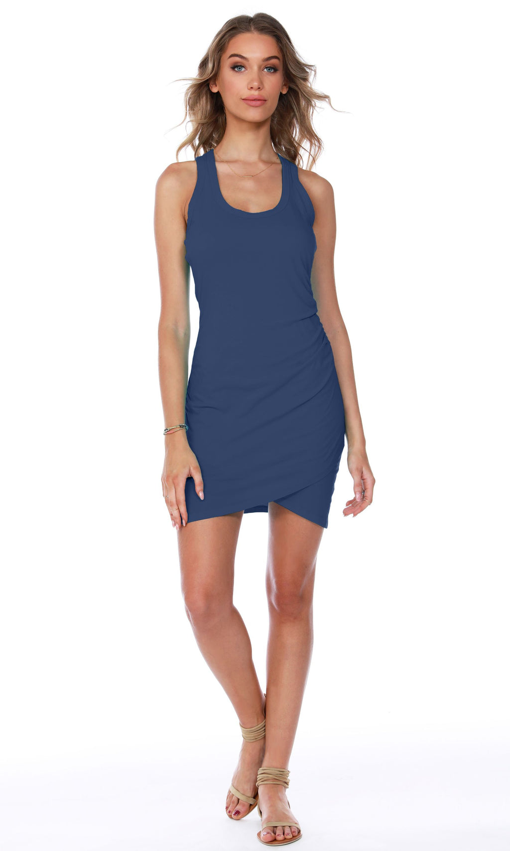 Surplice Tank Dress WAS 65 NOW 60 in Grey or Navy