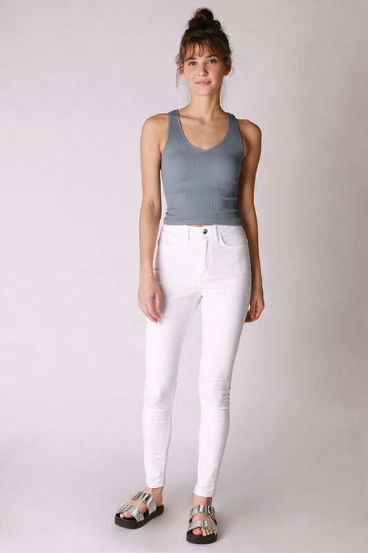 Micro-Modal Reversible Crop Top