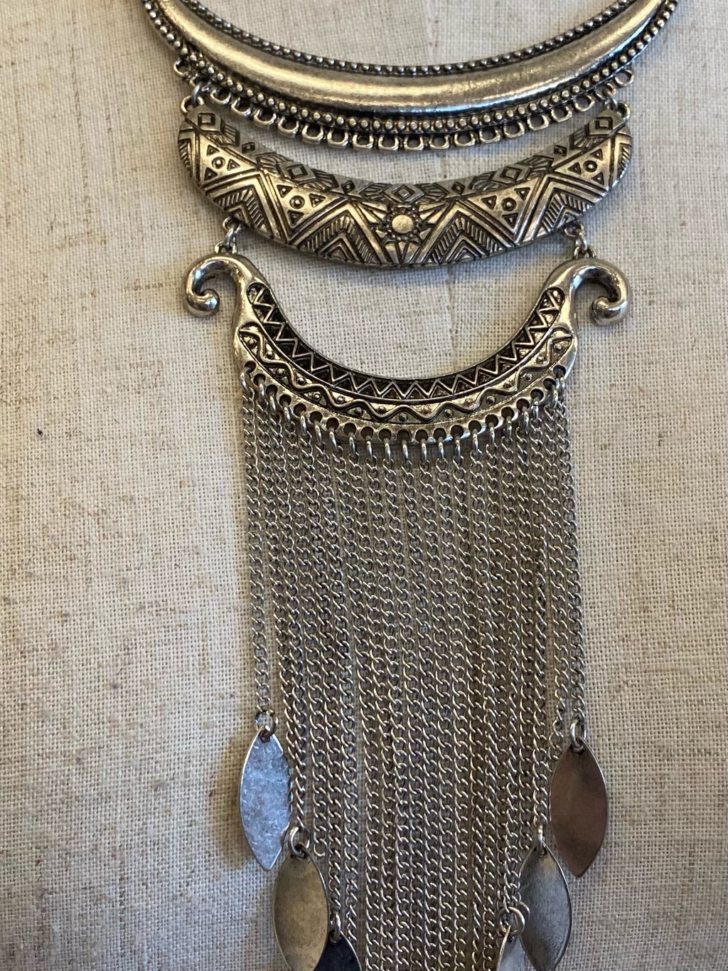 Silver Tribal Necklace