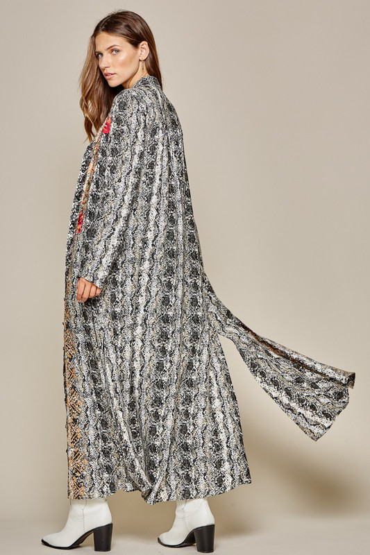 Embroidered Duster