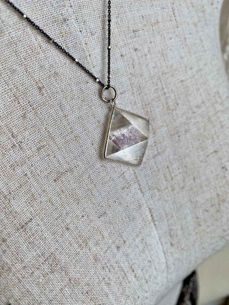 Quartz Pyramid Necklace