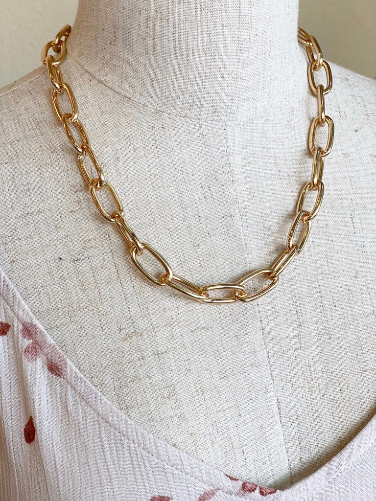 Simple Chain Link Necklace