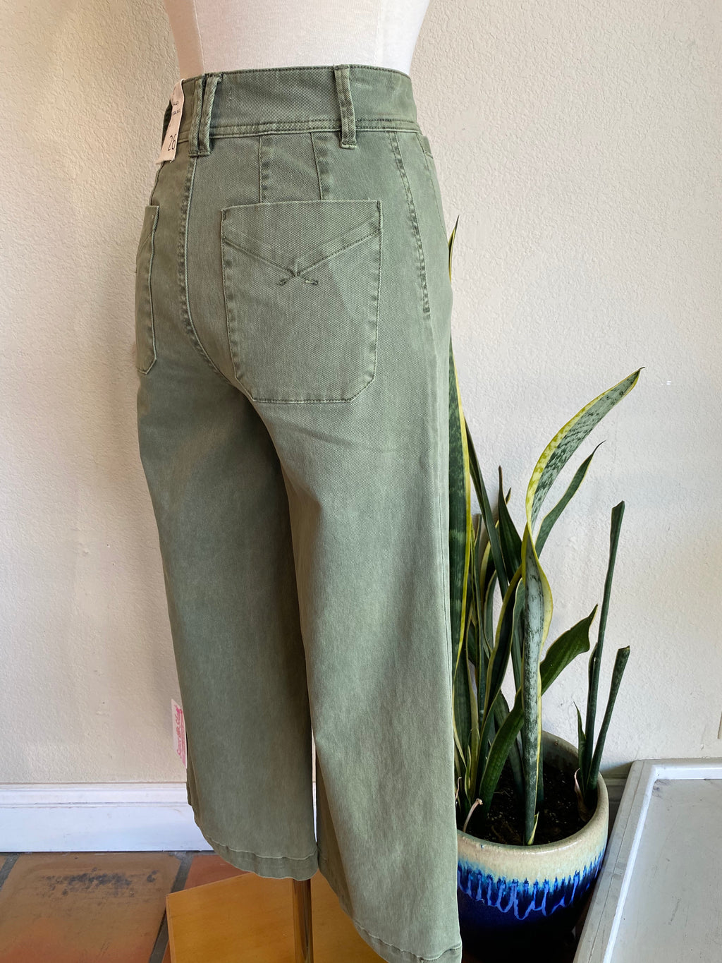 High waisted green cropped Was $82 now $59