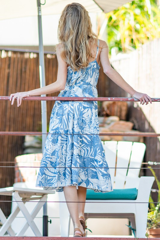 Stevie Tropical Midi Dress