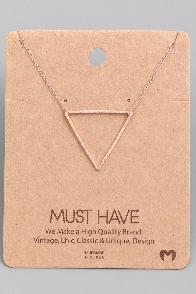 Triangle Cutout Necklace