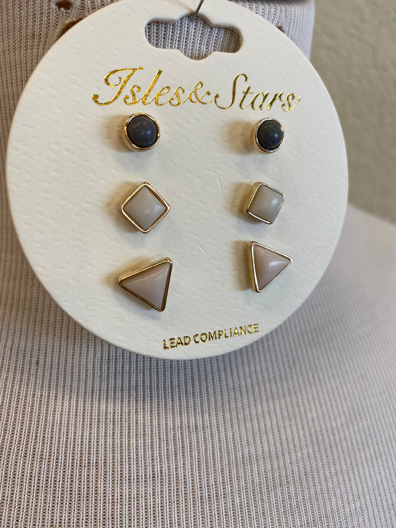Triangle Earring Set