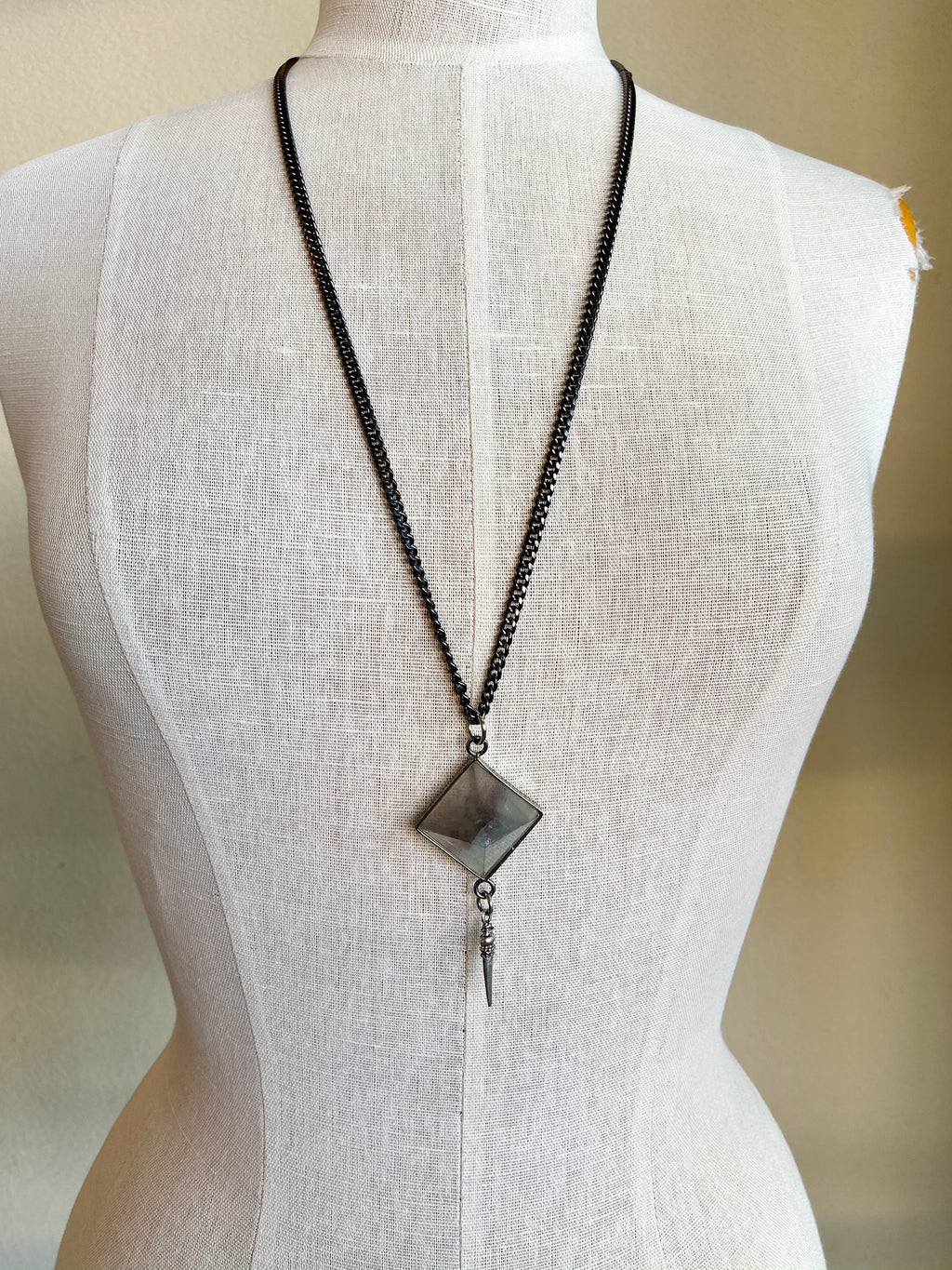 Smoked Quartz Statement Necklace