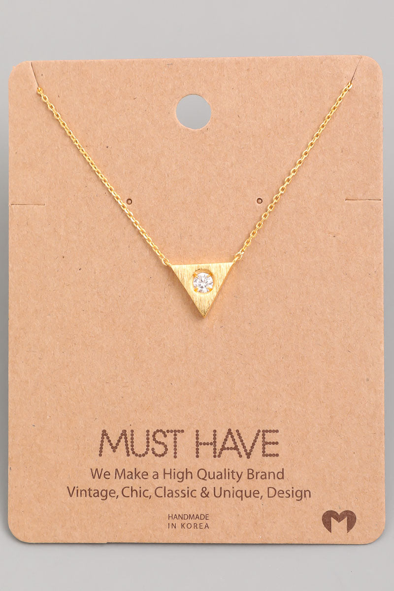 Dainty Triangle Charm Necklace