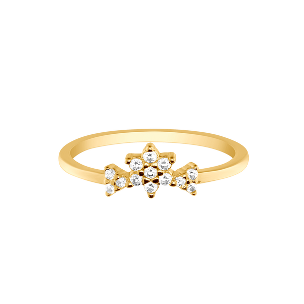 TRIPLE FLOWER RING