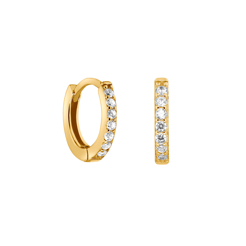 SPARKLE HOOPS MINI 18K VERGOLDET