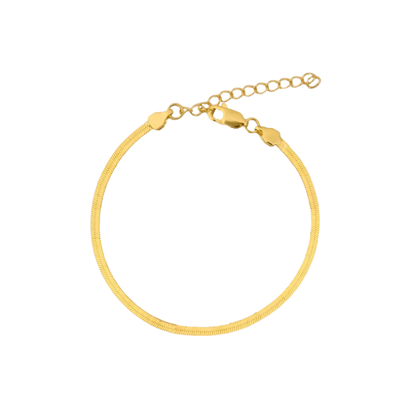 SLEEK CHAIN ARMBAND 18K VERGOLDET