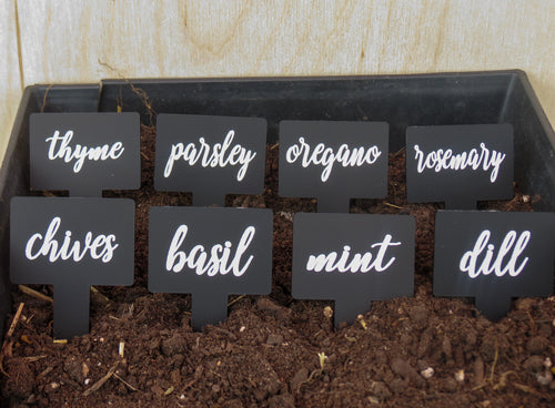 Herb Plant Stakes - Set of 8