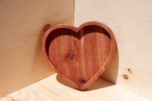 Medium Wooden Heart Dish