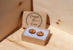Wooden Clip On Studs