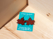 Load image into Gallery viewer, Maple Leaf Dangles