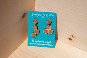 2 Tier Honeycomb Studs