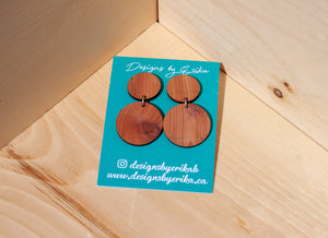 2 Tier Large Circle Studs