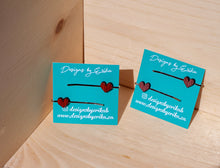 Load image into Gallery viewer, Set of 2 Heart Bobby Pins