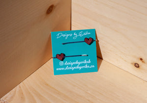 Set of 2 Heart Bobby Pins