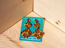 "Load image into Gallery viewer, ""Safari"" 3 Tier Diamond Polymer Clay Studs"