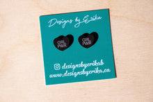 Load image into Gallery viewer, GRL PWR Heart Studs