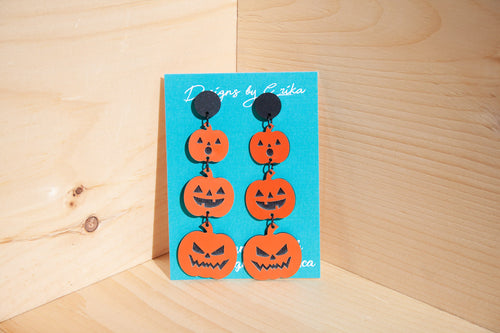 4 Tier Pumpkin Tower Studs