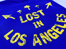 Load image into Gallery viewer, Black and Blue Lost In Los Angeles Short SLeeve T shirts