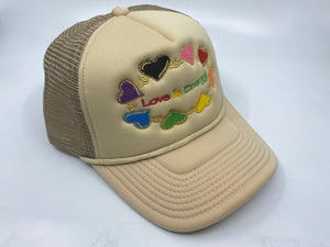 love is energy positive message hat