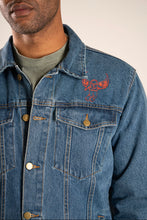 Load image into Gallery viewer, Lost in Los Angeles denim Trucker jacket