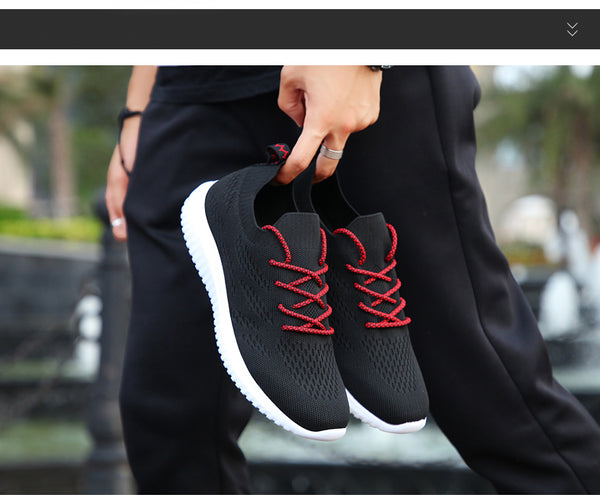 Hemmyi Men Shoes Flyknit Breathable Tenis Masculino Adulto Light Outdoor Sneakers Spring/Autumn Lace-up Causal Male Shoes