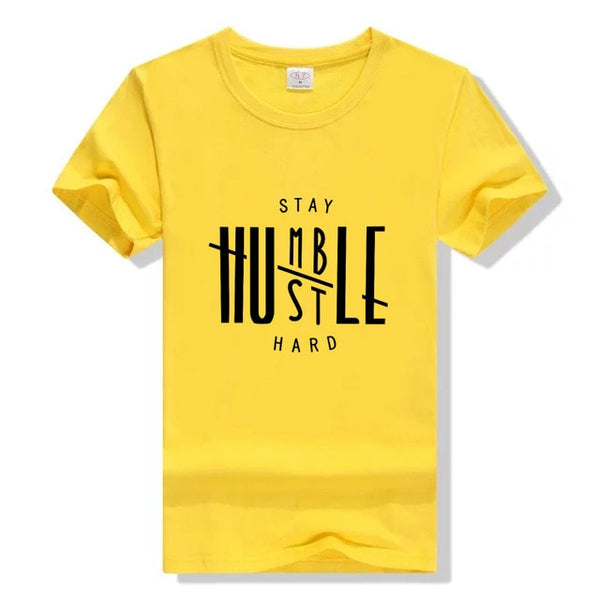 Stay Humble Hustle Hard T-shirt Christian women fashion funny grunge tumlbr tees cotton gift Jesus party tops tshirt leisure Tee