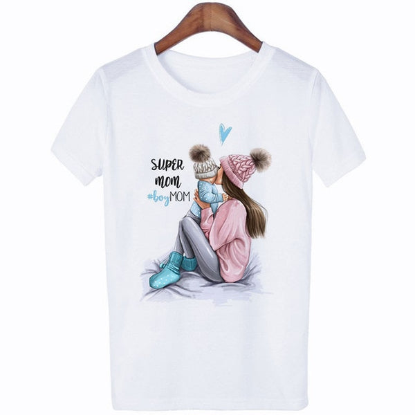 CZCCWD Summer 2019 Mother's Day T Shirt Women Harajuku Kawaii Super Mom Tshirt Leisure Comfortable Vogue Aesthetic Lovely Tshirt