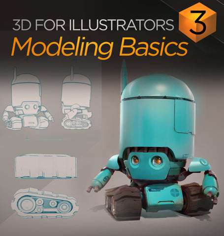 3D For Illustrators 03: Modeling Basics