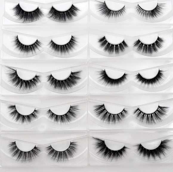 25 Pairs Silk False Eyelashes