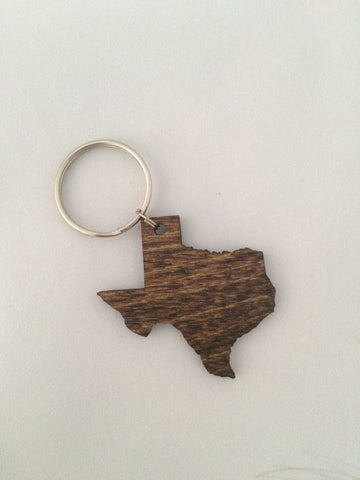 Gem Junkie Texas Keychain Wood