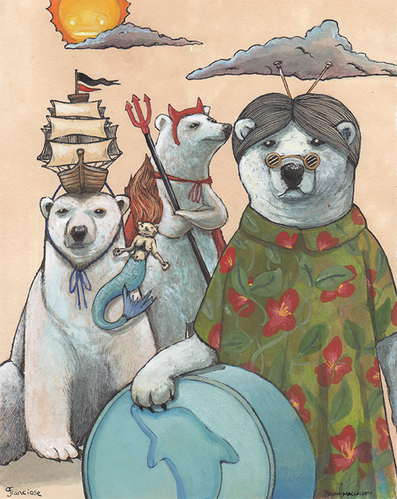 Party Animals Original 3 Polar Bears