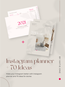 Must-Have Blogging Package: Daily Instagram Planner (183 pages) + E-book: 70 Ideas For Stories (56 pages)