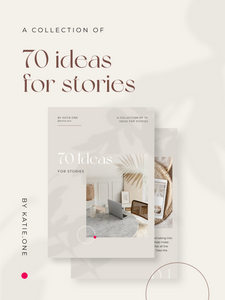 E-book: 70 Ideas For Stories - What to Share When There is Nothing to Share