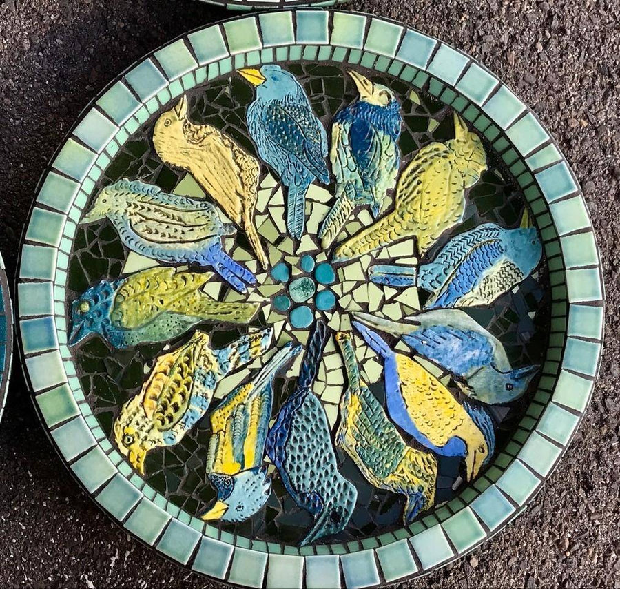 Mosaic Bird Bath Workshop (18 October 2020)