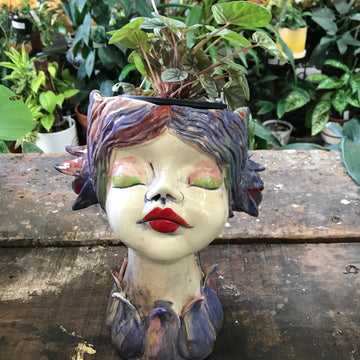 Monte Lupo Arts Head Planter - Small