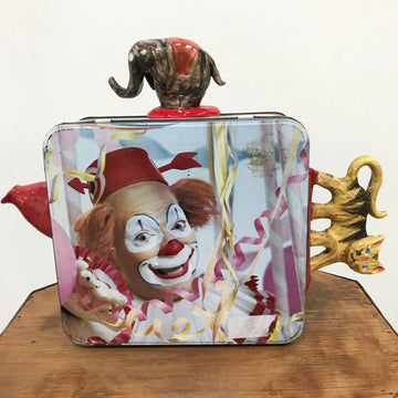 Fiona the Collector Tin Teapot: Clowning Around