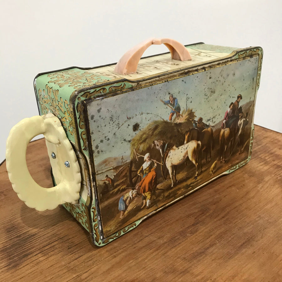 Fiona the Collector Tin Teapot: Horse and Hay