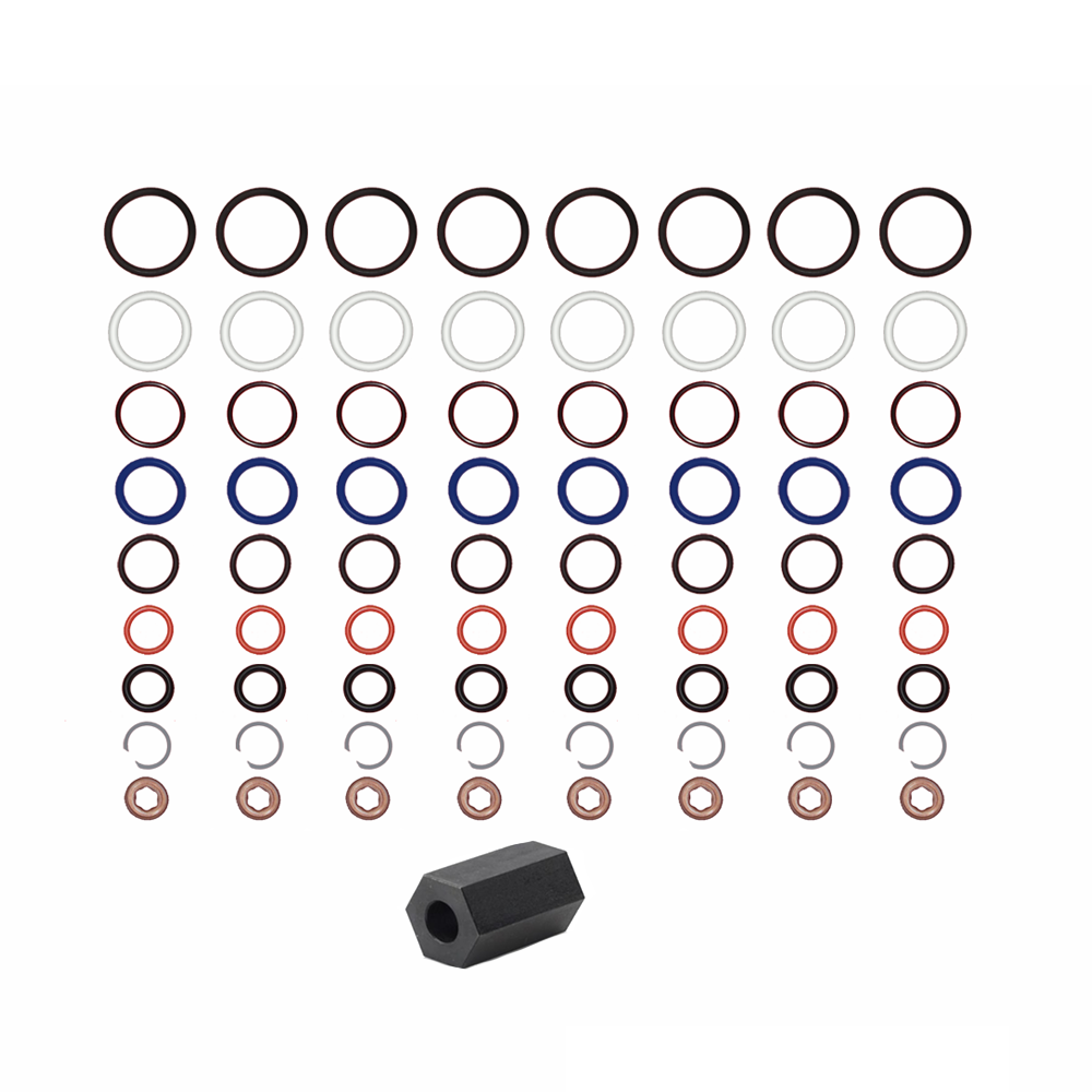 Oil Rail Leak Repair Kit, Tool, O rings, and Injector Seal Kits for 6.0L Ford Powerstroke