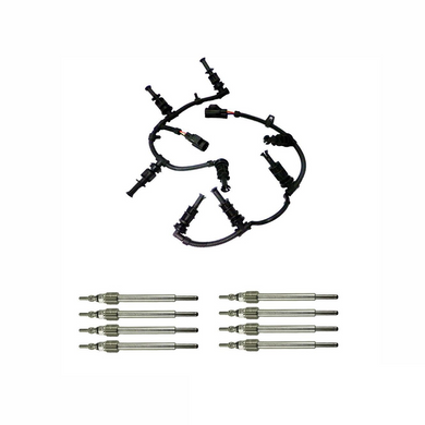 Glow Plug Harnesses with Glow Plugs for 2008 - 2010 6.4L Ford Powerstroke