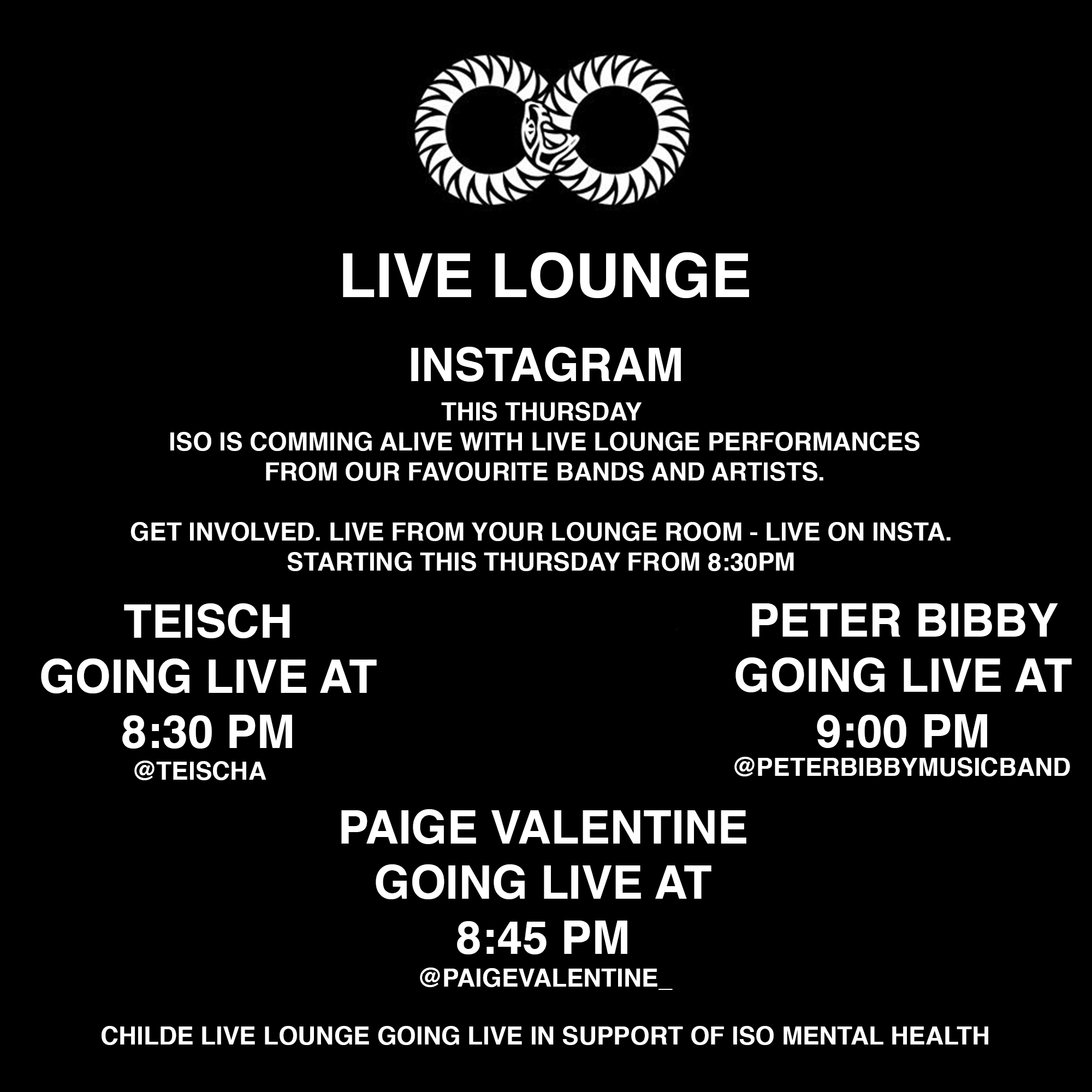 Childe Live Lounge in support of positive mental health