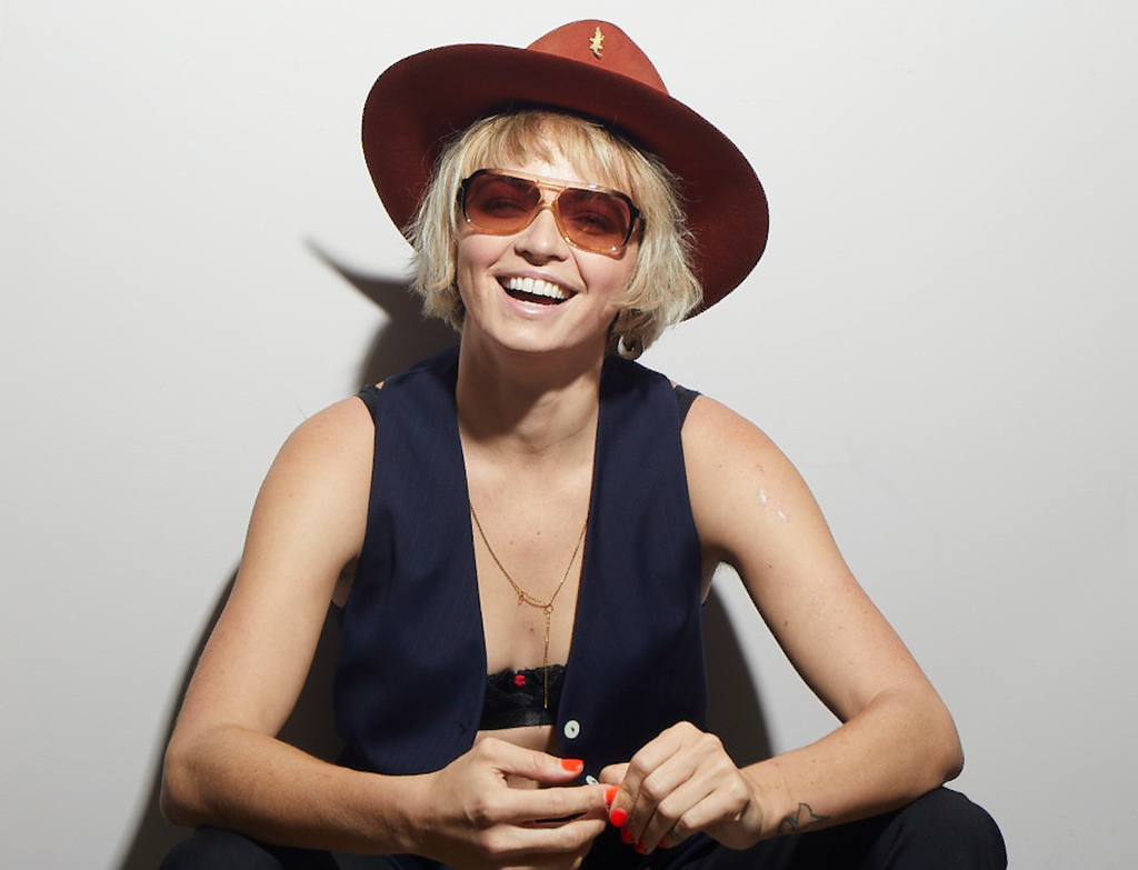 Jess Bush wears the plant based Treble Sunglass | Photo by Bart Celestino