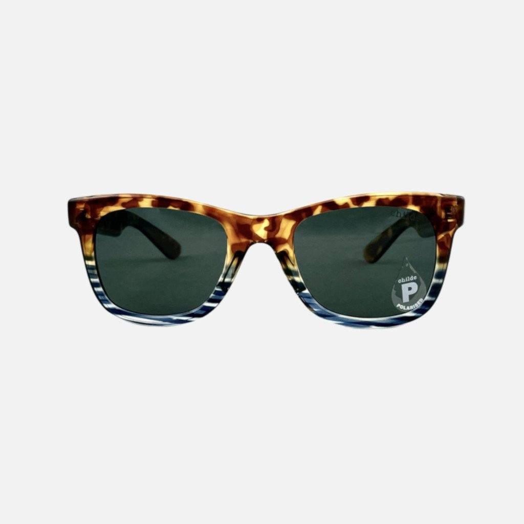 CASH Gloss Tort Indigo Stripe | Green Polarised Lens