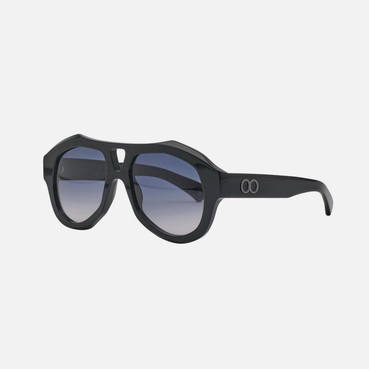 DEBASER Bio-Acetate Gloss Black | Grey Gradient Lens