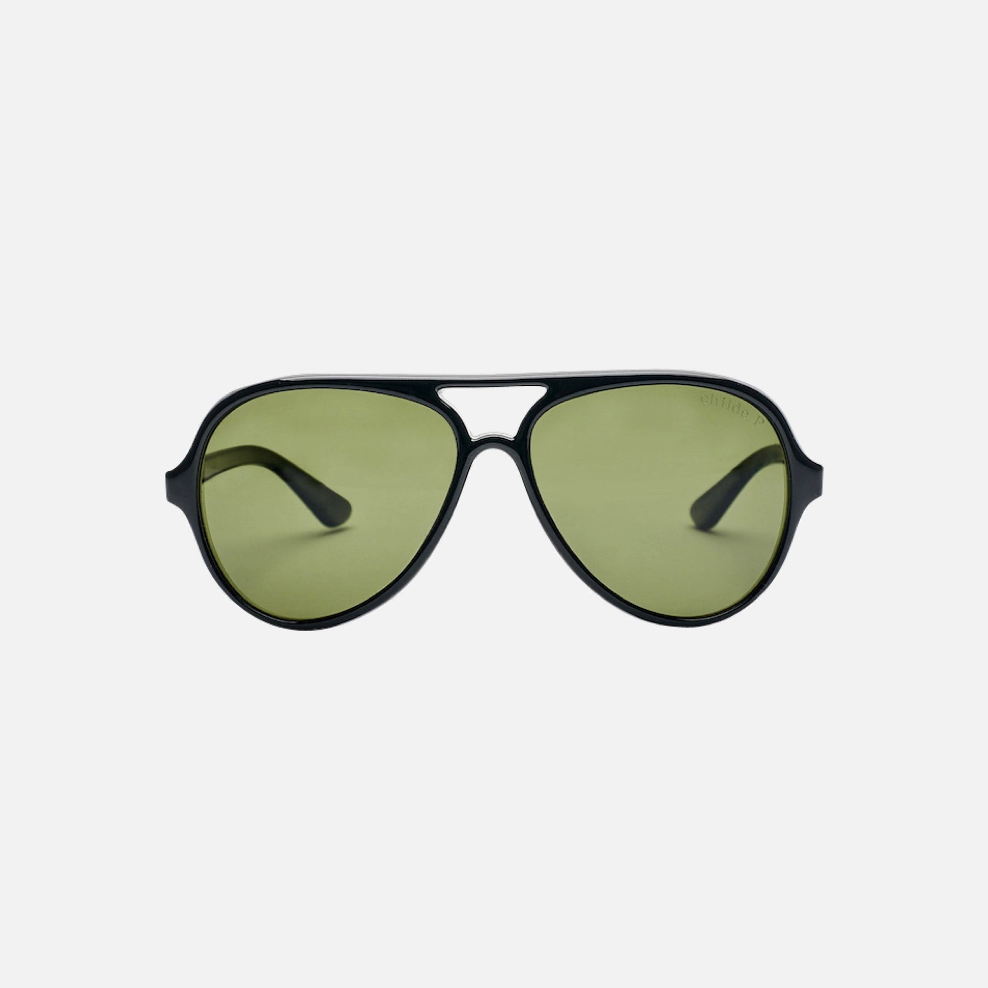DELETE Gloss Black | Green Polarised Lens