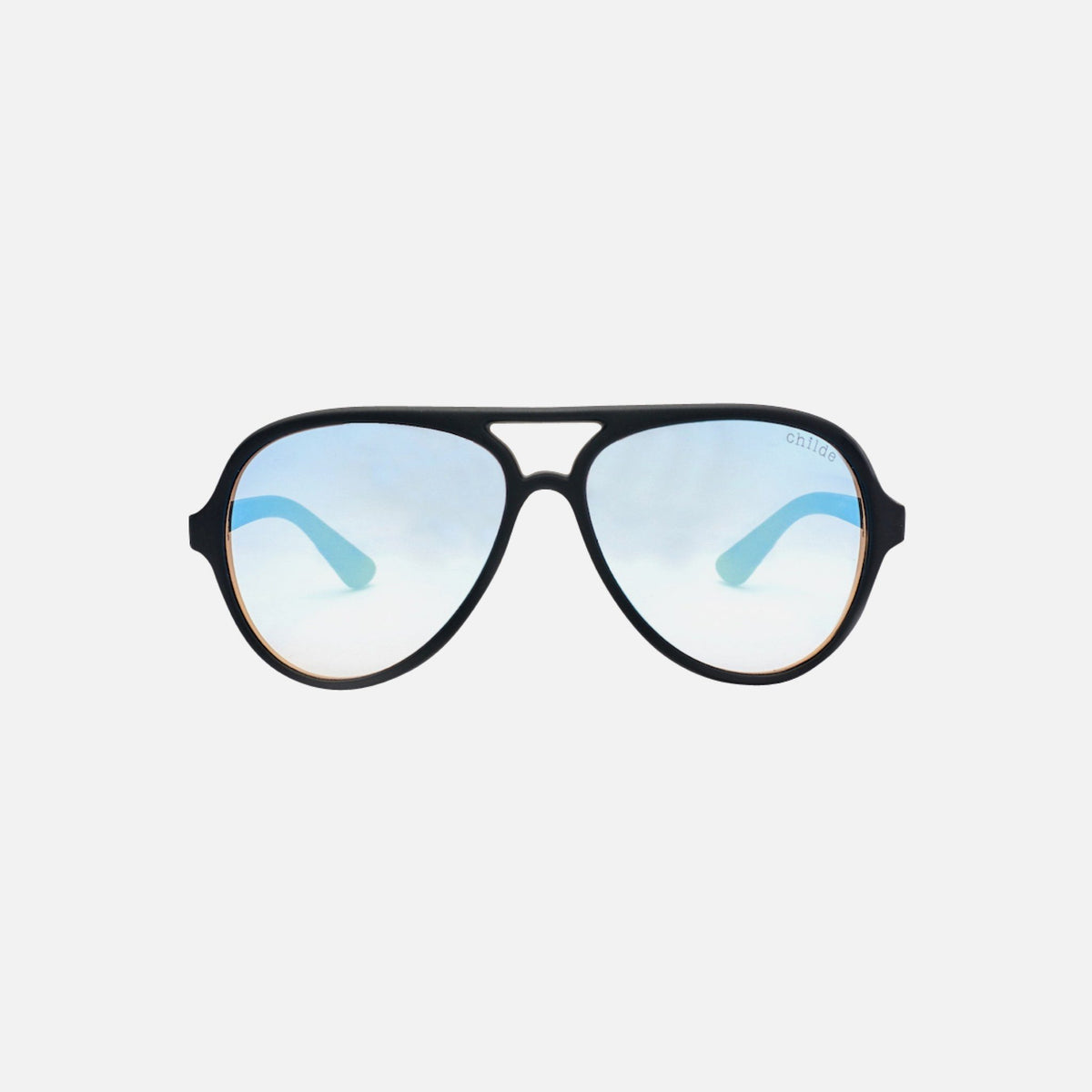 DELETE Matte Black | Double Gradient Rose / Sky Blue Mirror Flash Lens